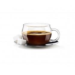 Set 4 cesti espresso din sticla Bormioli Tazzina 110 ml