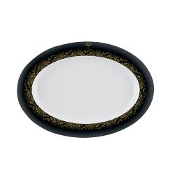 Platou portelan Versace 19.69 Black Dahlia 20 cm