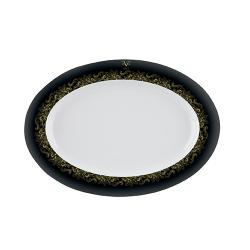 Platou oval portelan Versace 19.69 Black Dahlia 36 cm