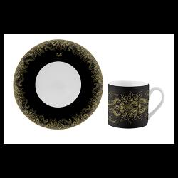 Ceasca si farfurie cafea Versace 1969 Black Dahlia