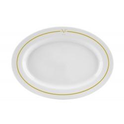 Platou oval portelan Versace 19.69 Palazzo 36 cm