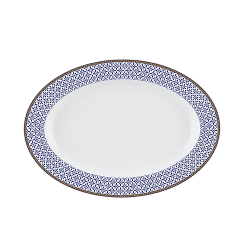 Platou oval portelan Versace 19.69 Indigo 36 cm