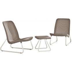 Set mobilier gradina Curver Rio Patio cappuccino
