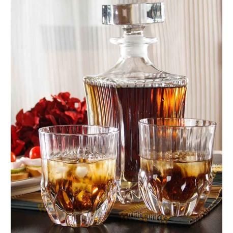 Set whisky RCR Adagio (decantor 750 ml + 6 pahare 350 ml)