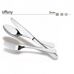 Tacamuri inox 18/10 colectia Tiffany grosime 2.5 mm