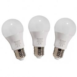 Set 3 becuri led lumina calda E27 10W 800LM - CVMORE - E27.00140
