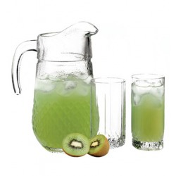 Set Pasabahce Valse 7 piese  carafa 1.33L + 6 pahare apa 290 ml