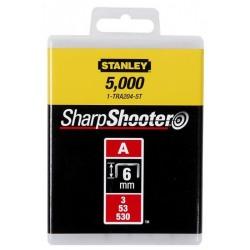 Capse pentru apilcatii uzuale Tip A 6mm 500 buc Stanley - 1-TRA204-5T