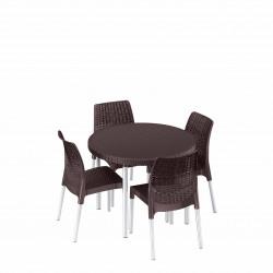 Set mobilier gradina Curver Jersey maro