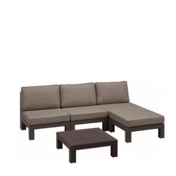 Set mobilier gradina Curver Nevada maro