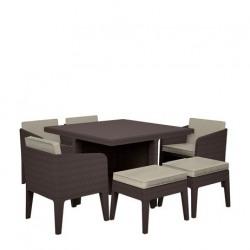Set mobilier gradina Curver Columbia 7 piese maro