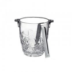 Ghetiera sticla Bormioli Dedalo 90Cl+ cleste inox pentru gheata