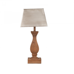 Lampadar din lemn cu abajur piramidal Trimar Shabby Chic