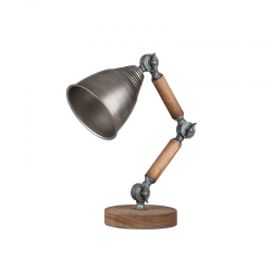 Lampadar din lemn cu abajur din metal Trimar Shabby Chic