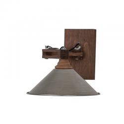 Aplica din lemn cu abajur metalic Trimar Shabby Chic