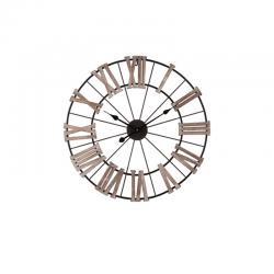 Ceas decorativ cu cifre latine din lemn pentru perete Trimar Shabby Chic