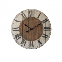 Ceas decorativ din lemn pentru perete Trimar Coastal Navy
