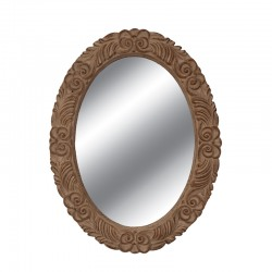 Oglinda decorativa ovala cu rama cu model sculptat  Trimar Stencil