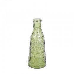 Vaza din sticla verde Bergen Trimar Stencil 26 cm