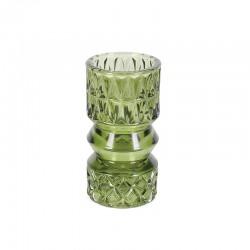 Suport pentru lumanare stilca verde Trimar Stencil 13.7 cm