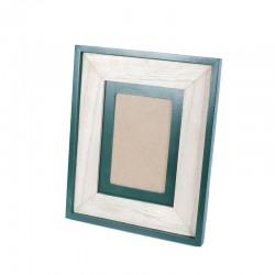 Cadru din lemn cu finisaj embosat verde/rama foto Trimar Stencil 20.5x20.5 cm