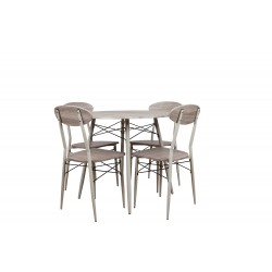 Set masa rotunda cu 4 scaune Trimar Industrial