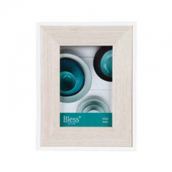 Rama foto lemn natur Trimar Mediterranean Blue 10x15 cm