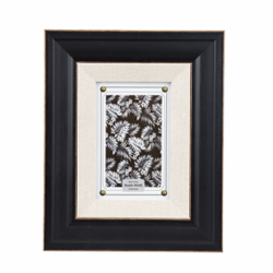 Rama foto Trimar Shabby Chic alb-negru 13x18 cm
