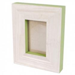 Rama foto lemn cu finisaj verde Trimar Stencil 20.5x20.5 cm