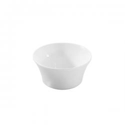 Bol conic Ionia Black&White alb 6x3.7 cm