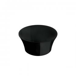 Bol conic Ionia Black&White negru 6x3.7 cm