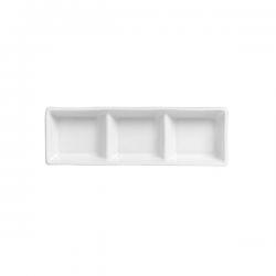 Bol dreptunghiular portelan Ionia Black&White alb 19.5 x 8 cm