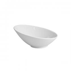 Bol eliptic portelan Ionia Black&White alb 9.5x4.5 cm