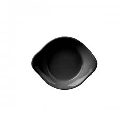 Bol alungit portelan Ionia Black&White negru 8.5 x 2 cm