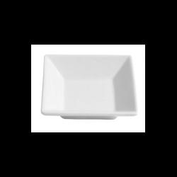 Bol patrat Ionia Black&White alb 6.7x6.7 cm