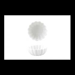 Bol scoica portelan Ionia Black&White alb 6.8 x 2.6 cm