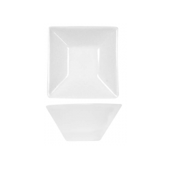 Farfurie rectangulara Ionia Black&White alba 13x6 cm