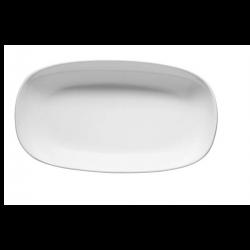 Platou oval Ionia Black&White alb 32 cm