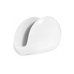 Suport portelan pentru servetele Ionia Black&White Blanco