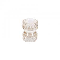 Suport lumanare de sticla ivoar cu decoratiuni Trimar Cool Retro