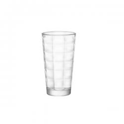Set 6 pahare long drink Bormioli Cube 370 ml