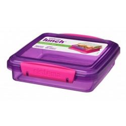 Cutie plastic dreptunghiulara  Sistema Lunch 450ml