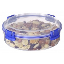 Cutie alimente plastic rotunda cu capac Sistema Klip It 640 ml
