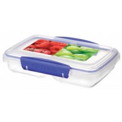 Cutie alimente plastic  2 compartimente cu capac Sistema Klip It 350 ml