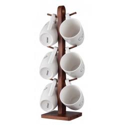 Set 6 cani albe ceramica + suport Trimar