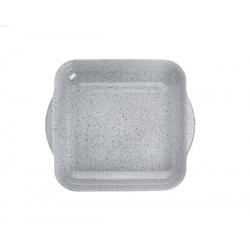 Vas termorezistent patrat Pasabahce Borcam 1.95 l Granit Gri