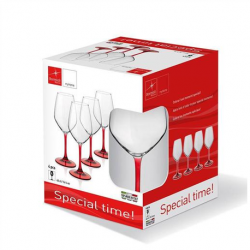 Set 4 pahare vin Bormioli Special Time 435 ml rosu