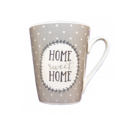 Cana portelan decor Home sweet home 310 ml