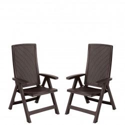 Set 2 scaune Curver Montreal maro