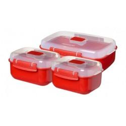 Set 3 cutii alimente Sistema Microwave